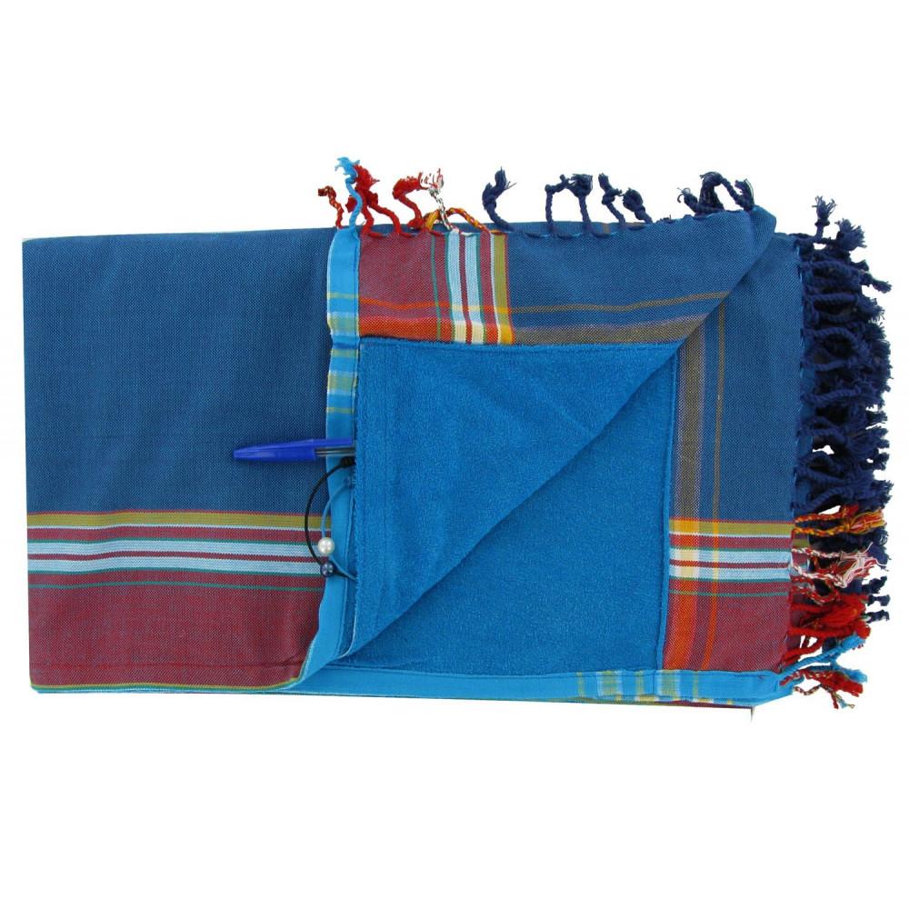 v kikoy serviette plage coton eponge couleur bleu p trole. Black Bedroom Furniture Sets. Home Design Ideas