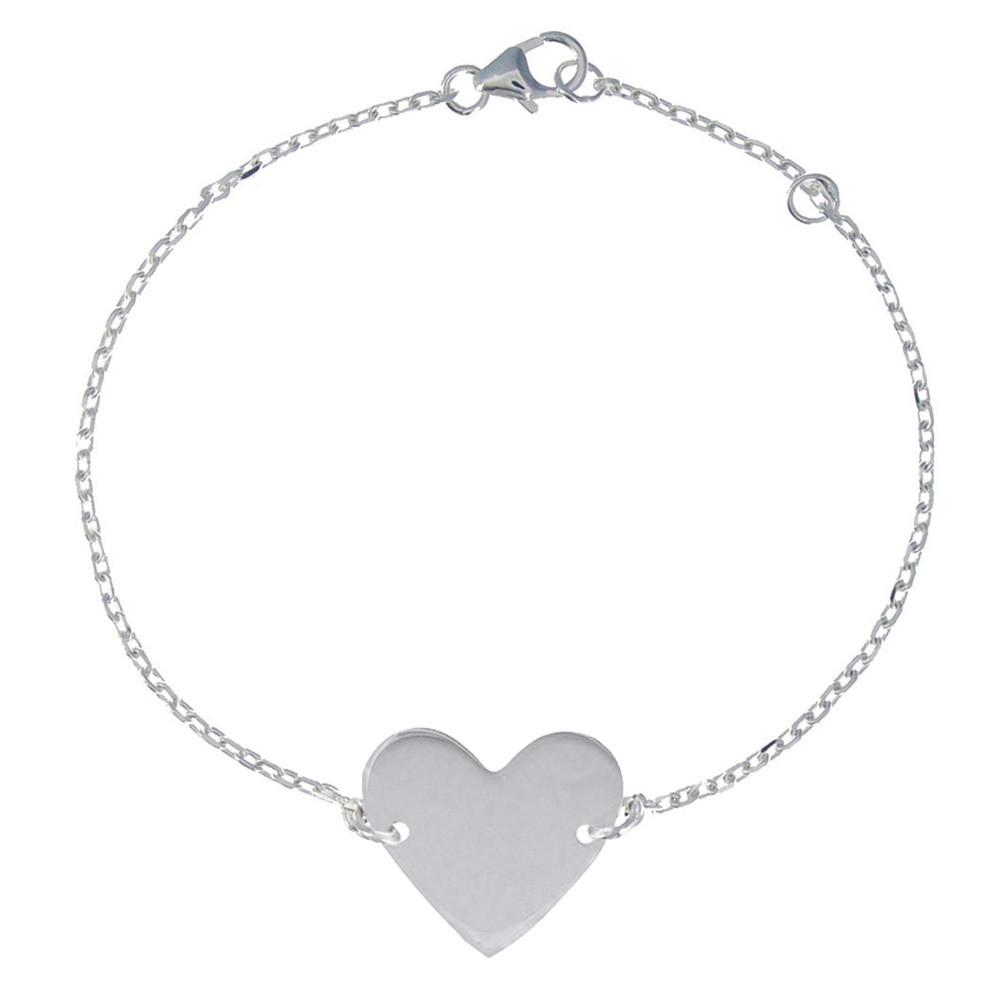 Bracelet Coeur en Argent - Les Poulettes Bijoux - Modalova