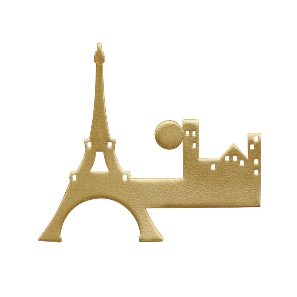 Broche Laiton Paris - Les Poulettes Bijoux - Modalova